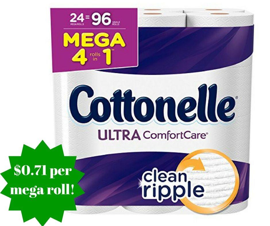 Amazon: Cottonelle Ultra Comfort Care Toilet Paper Only $0.71 Per Mega Roll