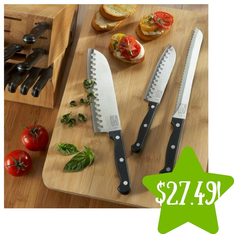 Walmart: Chicago Cutlery Essentials 15-Piece Knife Block Set Only $27.49 (Reg. $70)