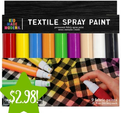 Target: Made Modern Spray Fabric Paint Only $2.98 (Reg. $10)