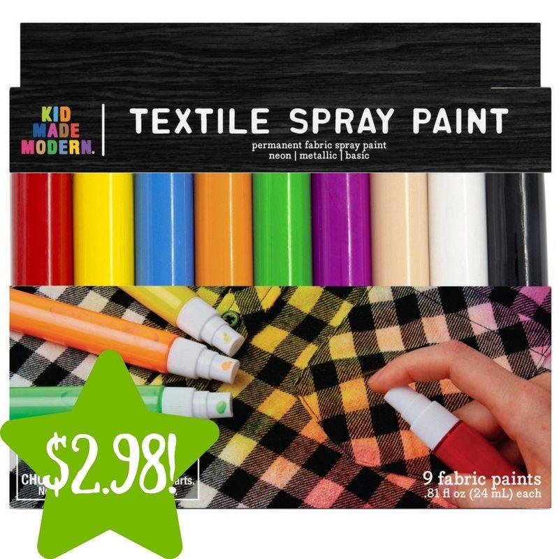 Target: Made Modern Spray Fabric Paint Only $2.98 (Reg. $10)