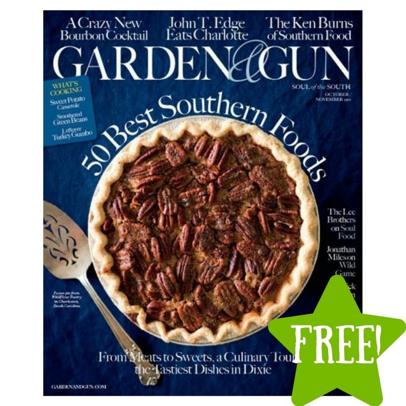 FREE Garden & Gun Magazine Subscription