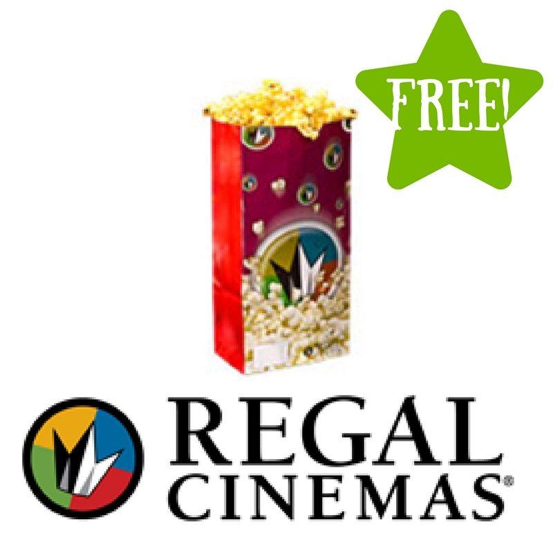 FREE Small Popcorn at Regal Cinemas