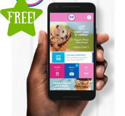 FREE Ice Cream Scoop at Baskin Robbins
