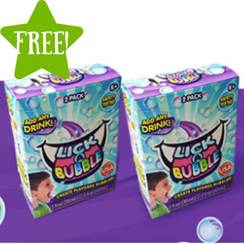 FREE Lick-A-Bubble Flavored Bubbles