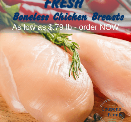 Farm Fresh Boneless Chicken Breast Price — **HURRY The Deal is BACK** as low as $.79-$.99 lb!