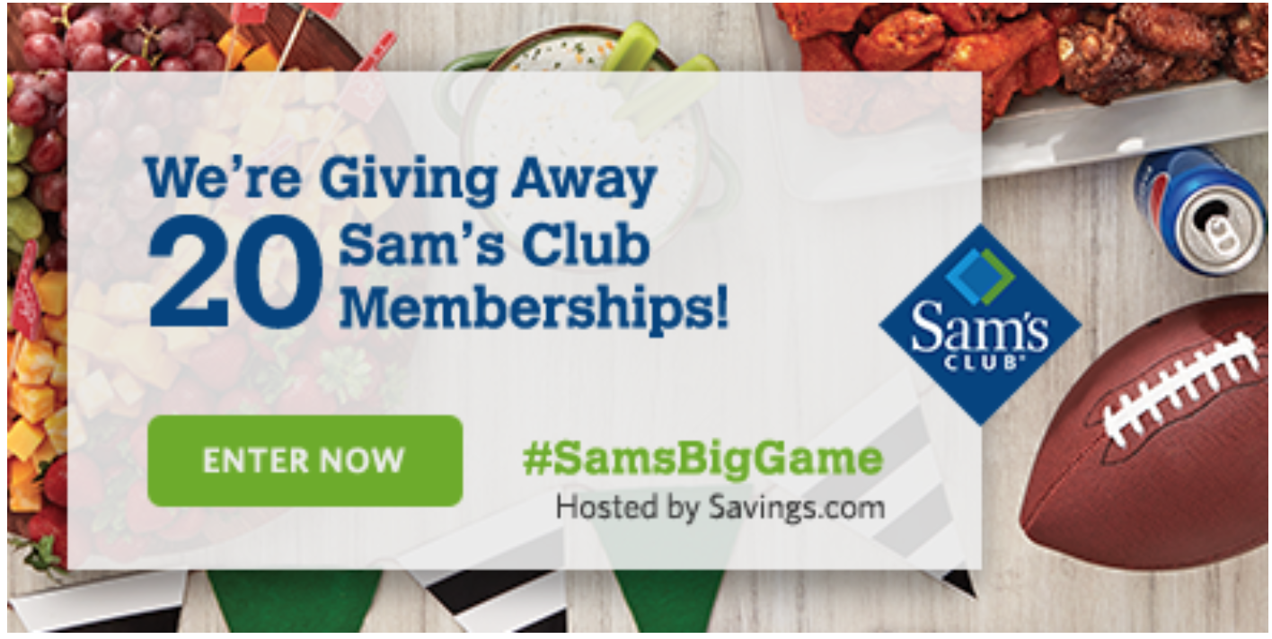 **HURRY** 20 People can Win Sams Club Membership {$45 value} !!!  Enter #SamsBigGame here NOW!!!