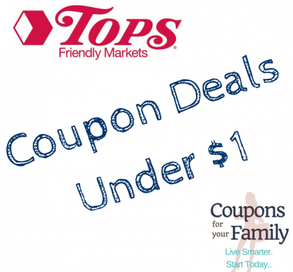 Tops Friendly Markets Coupon Deals under $1 thru 1/20