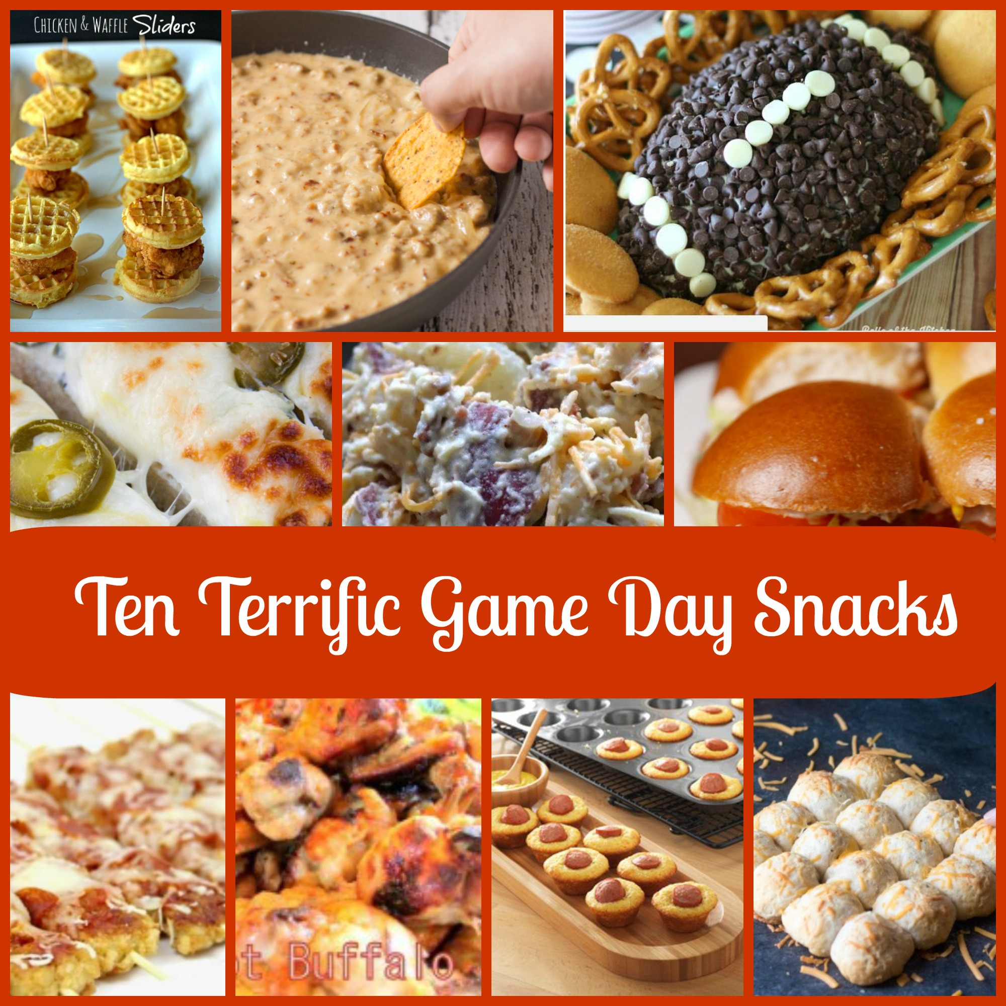 Ten Terrific Game Day Snack Recipes!!