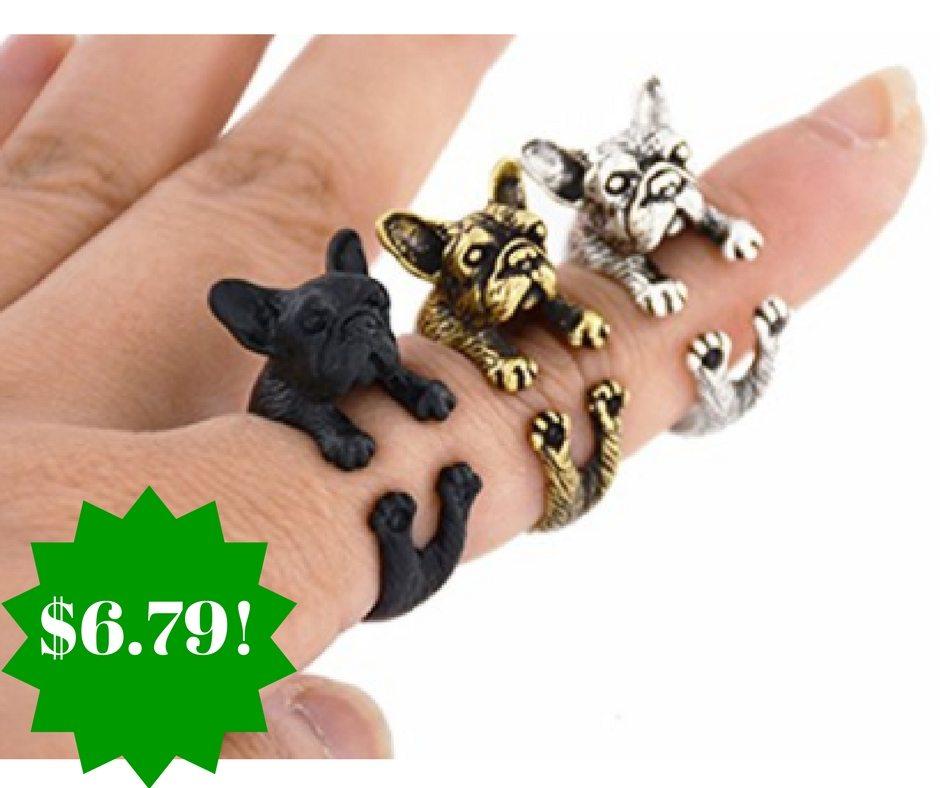 Amazon: Harleya Vintage Bulldog Ring As Low As $6.79 Shipped