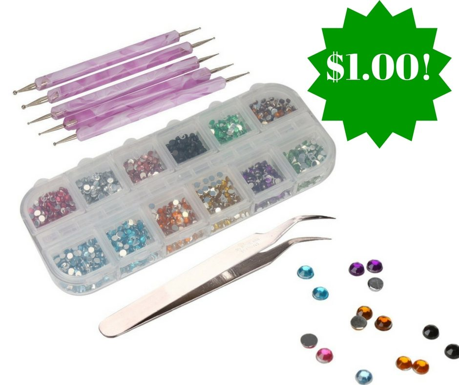 Amazon: 5 Marblezing Pens + 3000 Rhinestones Nail Art Kit Only $1.00 ...