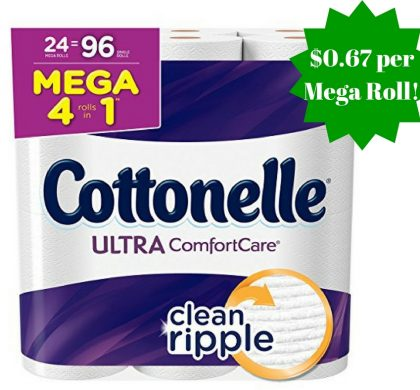 Amazon: Cottonelle Ultra Comfort Care Toilet Paper Only $0.67 Per Mega Roll
