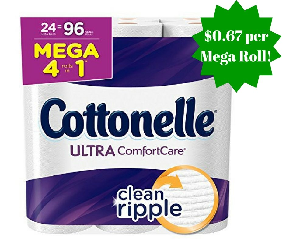 Amazon: Cottonelle Ultra Comfort Care Toilet Paper Only $0.67 Per Mega Roll