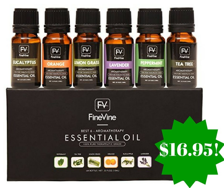 Amazon: Aromatherapy Top 6 Essential Oils Gift Set Only $16.95