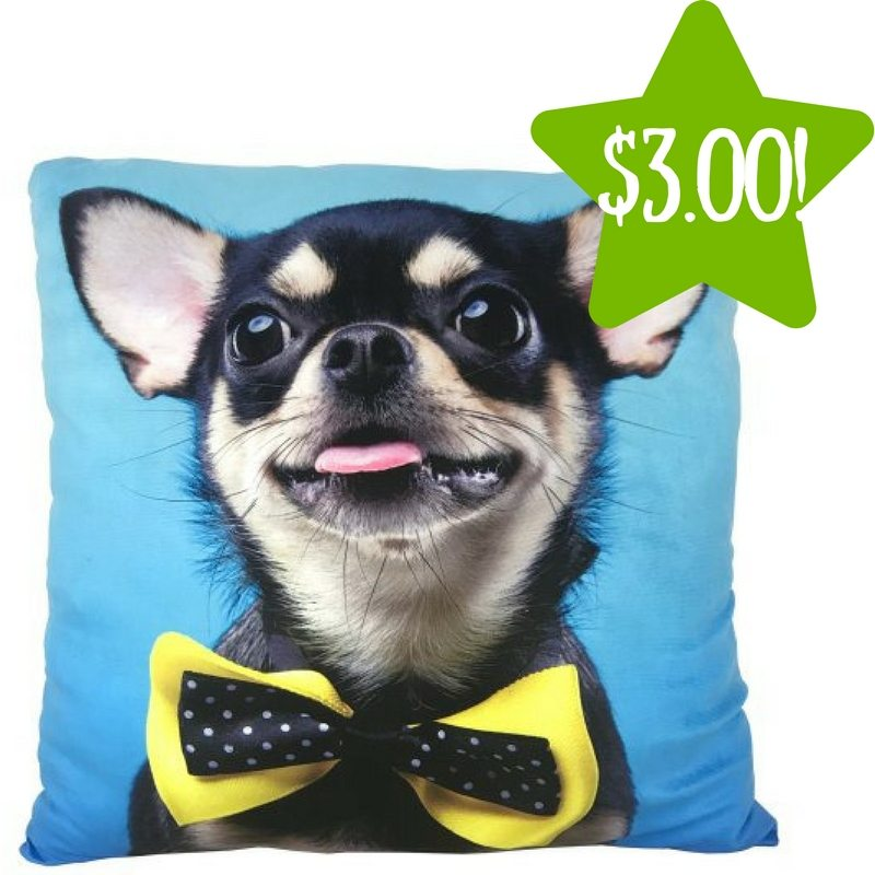 Walmart: Photo Real Chihuahua Bow Tie Throw Pillow Only $3.00 (Reg. $9)