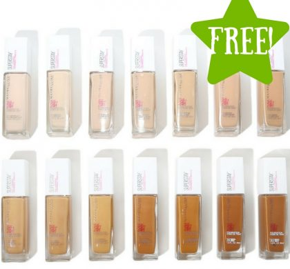FREE Maybelline Super Stay Full Coverage Foundation