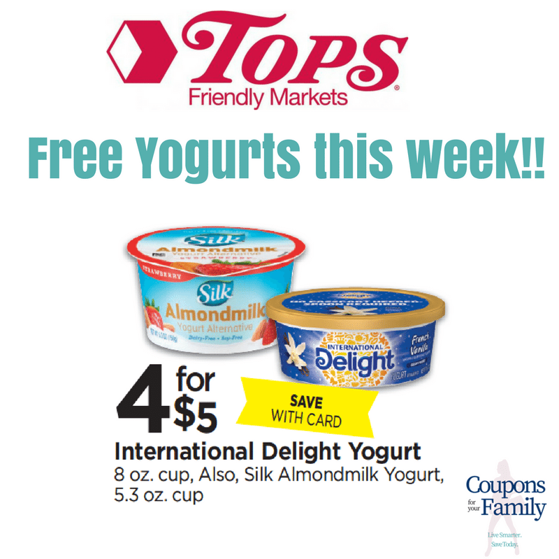 Get your FREE Yogurt & Cheap Yogurt at Tops this week– International Delight & Silk AlmondMilk!