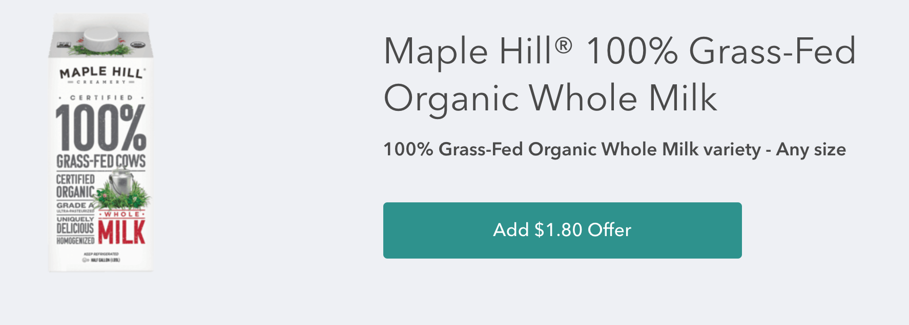 Maple Hill Organic Milk