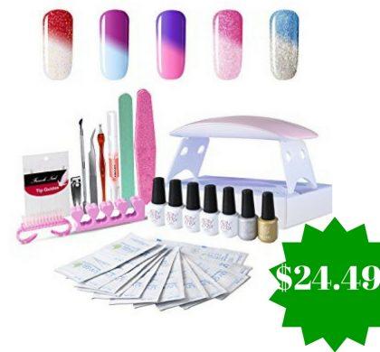 Amazon: Gel Nail Polish Starter Kit Only $24.49 (Reg. $50)