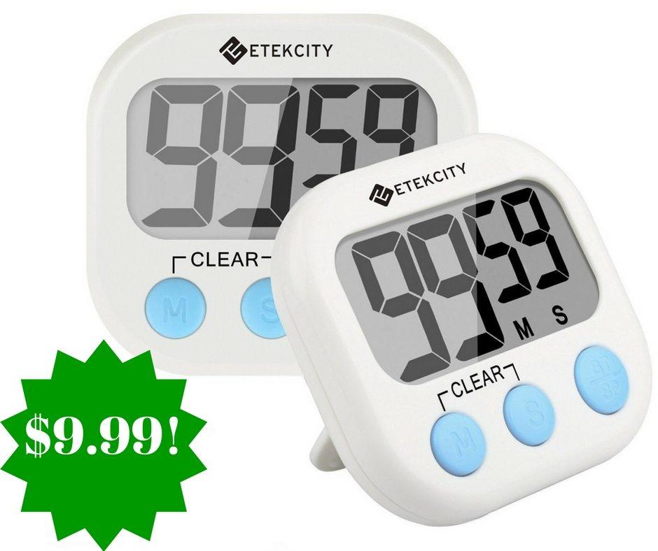 Amazon: Etekcity Digital Kitchen Timer 2 Pack Only $9.99 (Reg. $19)