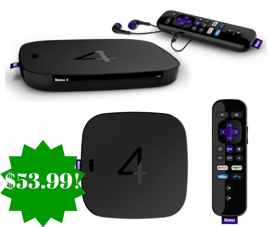 Amazon: Roku 4 HD and 4K UHD Streaming Media Player Only $53.99 (Reg. $130, Today Only)