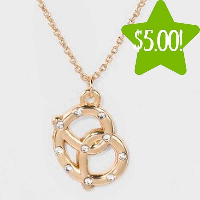 Target: Pretzel Charm with Stone Necklace Only $5.00 (Reg. $10)