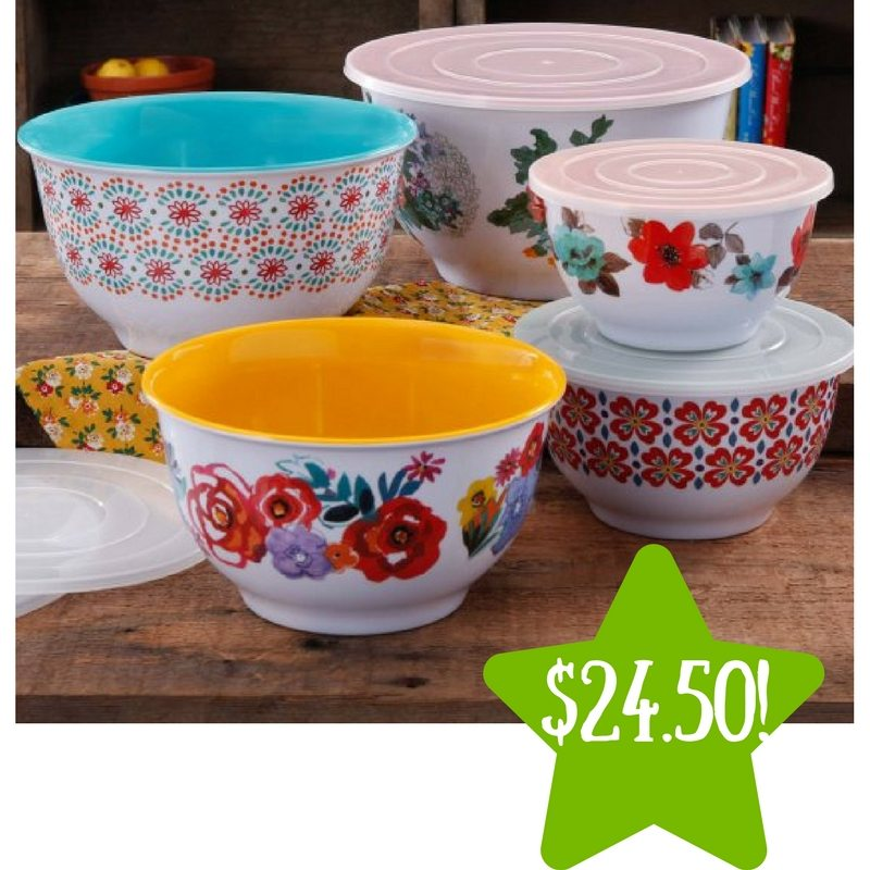 Walmart: The Pioneer Woman Country Garden Nesting Mixing Bowl Set Only $24.50 (Reg. $50)