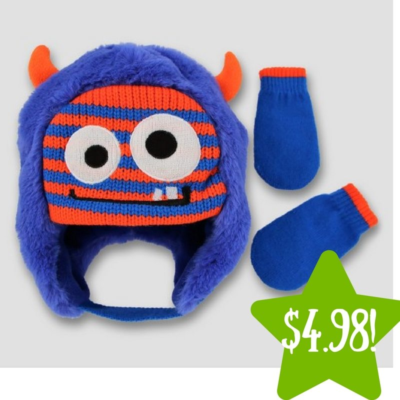 Target: Fuzzy Scandi with 3D Horns and Mitten Set Only $4.98 (Reg. $10)