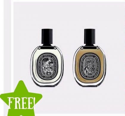 FREE Diptyque Fleur de Peau & Tempo Fragrances Samples