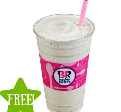 FREE Mint Chip 'n Oreo Cookies Milkshake at Baskin Robbins (3/17 Only)