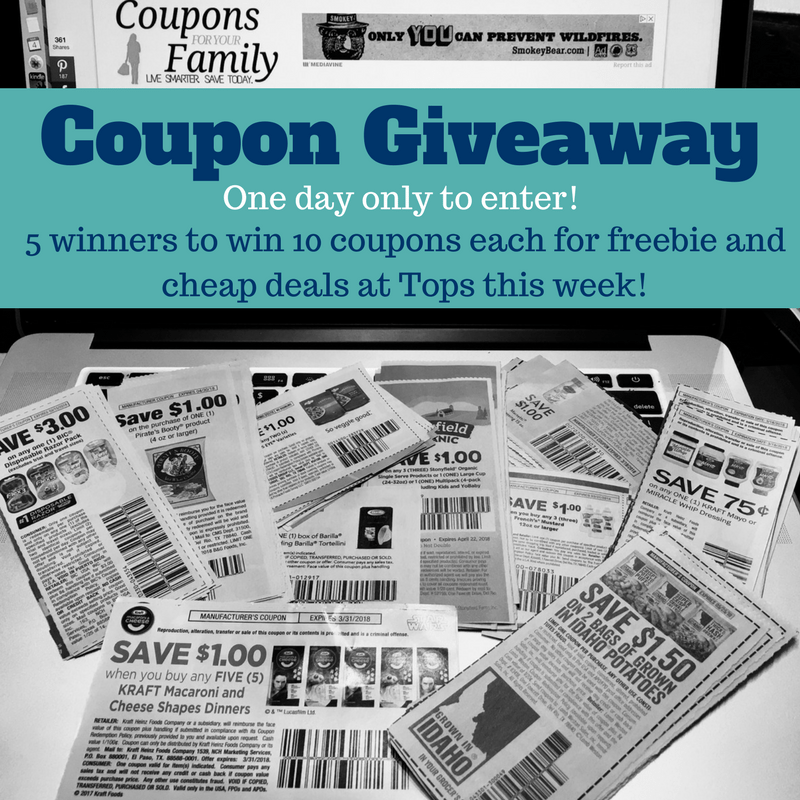 10 Tops Deals with Insert coupons PLUS Coupon Giveaway – 5 winners win 10 coupons each!