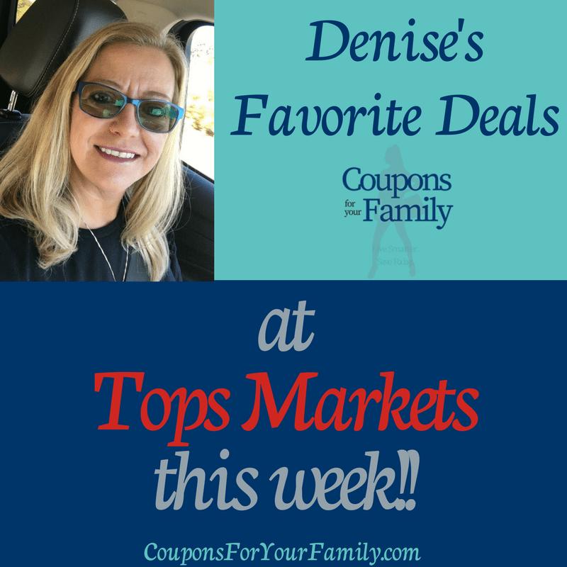 Denise's Favorite Deals at Tops Friendly Markets 4/15-4/21