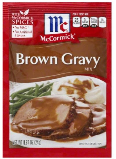 Wegmans: McCormick Gravy Mix Only $0.20!