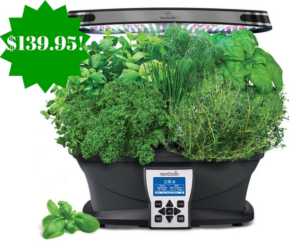 Amazon: AeroGarden Ultra (LED) with Gourmet Herb Seed Pod Kit Only $139.95 (Reg. $240, Today Only)