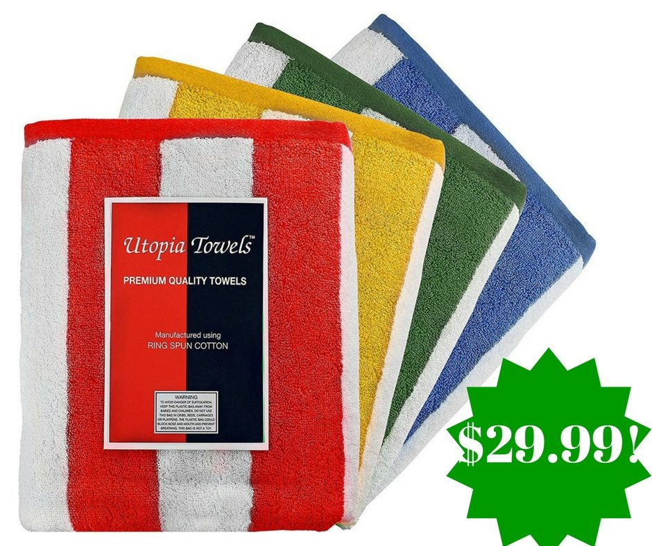 Beach Blanket At Costco: Amazon: Pack Of 4 Premium Quality Cabana Beach Towels Only