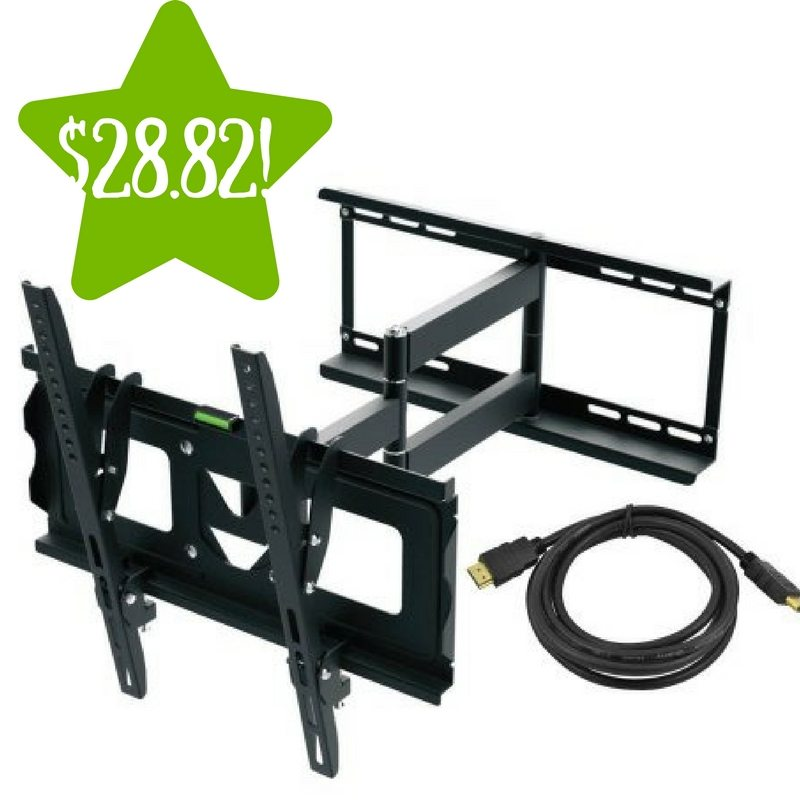 Walmart: Ematic Full Motion TV Wall Mount Kit Only $28.82 (Reg. $78)