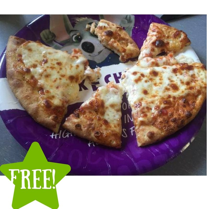 FREE Personal Pizza at Chuck E Cheese's
