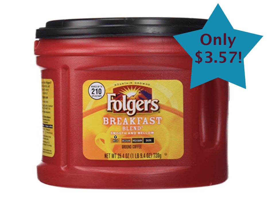 Online Grocery Shopping Deal Folgers Coffee only $3.57!!