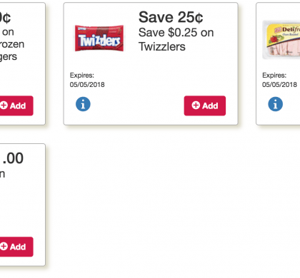 This weeks Online Tops Monopoly Coupons: Jennie-O Turkey Burgers, Twizzlers, Oscar Mayer Cold Cuts, Pringles