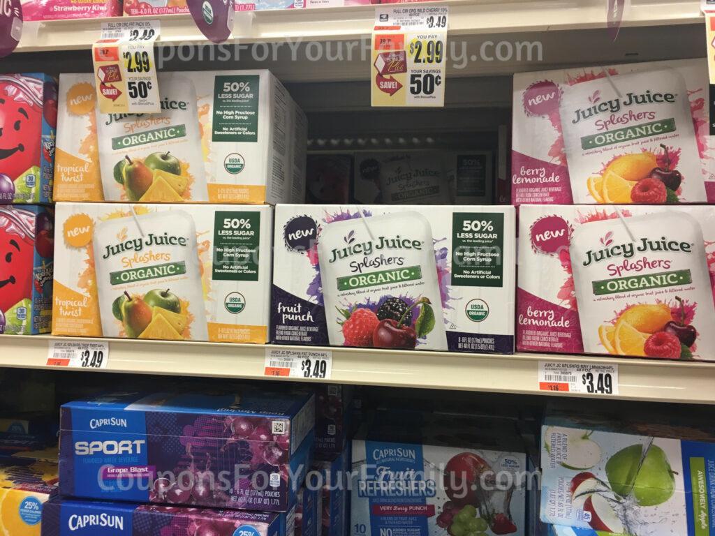 juicy juice organic splashers