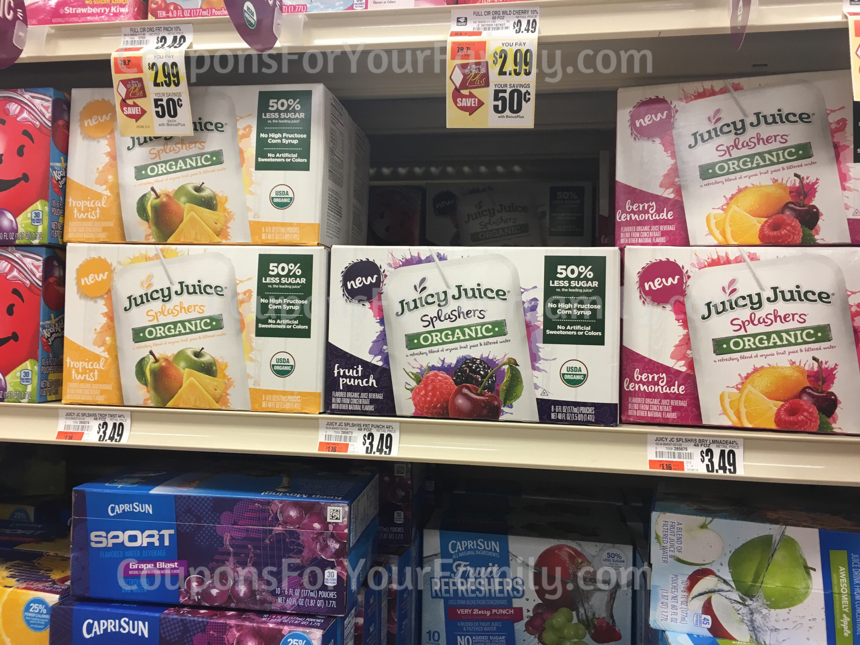 **HOT**  Tops Markets ORGANIC Juicy Juice Pouches for only $.99 this week!!