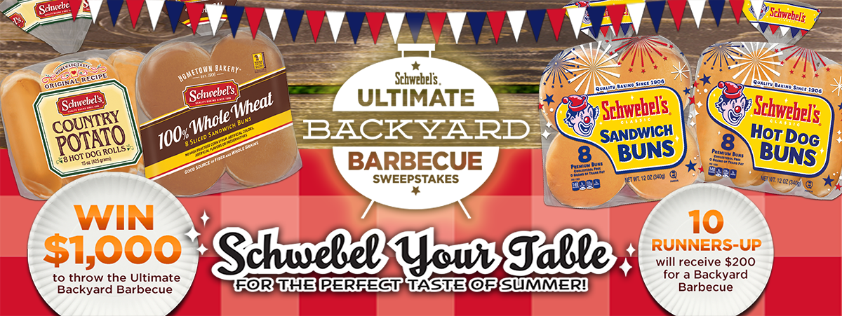 Enter to Win $1000 Backyard BBQ plus 10 $200 Runner up winners from Schwebel's!