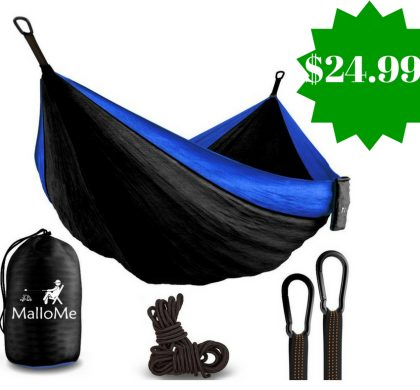 Amazon: MalloMe Double Portable Camping Hammock Only $24.99 (Reg. $90)