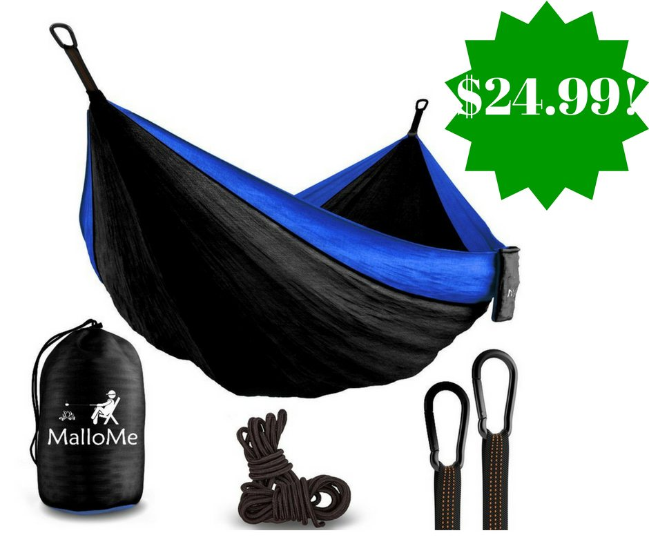 Amazon: MalloMe Double Portable Camping Hammock Only $24.99 (Reg. $90)