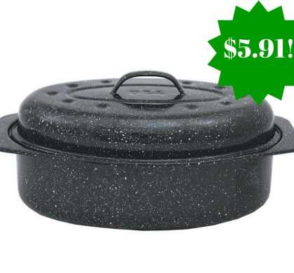 Amazon: Granite Ware Covered Oval Roaster Only $5.91 (Reg. $15)