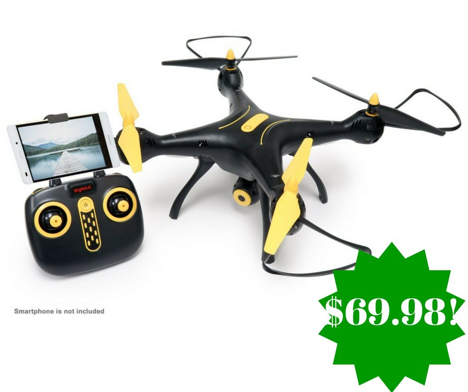 Amazon: Tenergy Syma X8SW Wi-Fi FPV Quadcopter Drone Only $69.98 (Reg. $130, Today Only)