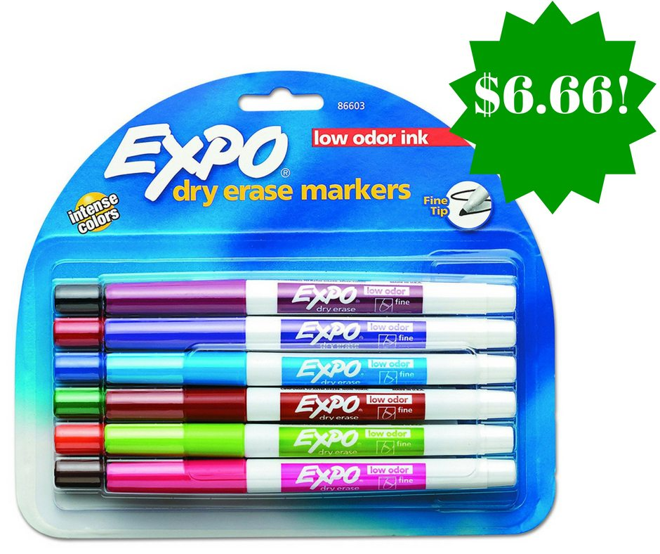 Amazon: Pack of 12 EXPO Fine Point Dry Erase Markers Only $6.66 (Reg. $16)