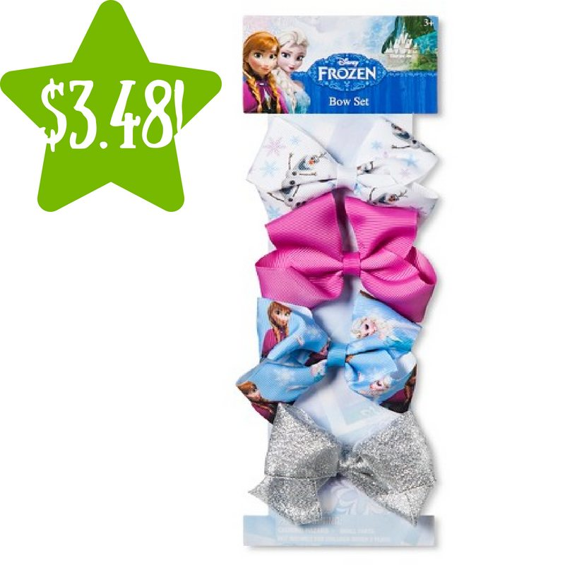 Target: 4 Pack of Frozen Girls' Bows Only $3.48 (Reg. $7)