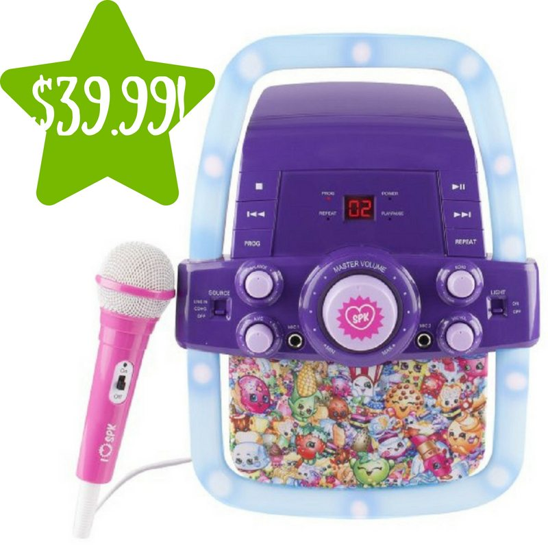 Walmart: Shopkins Flashing Light Karaoke Only $39.99 Shipped (Reg. $66)