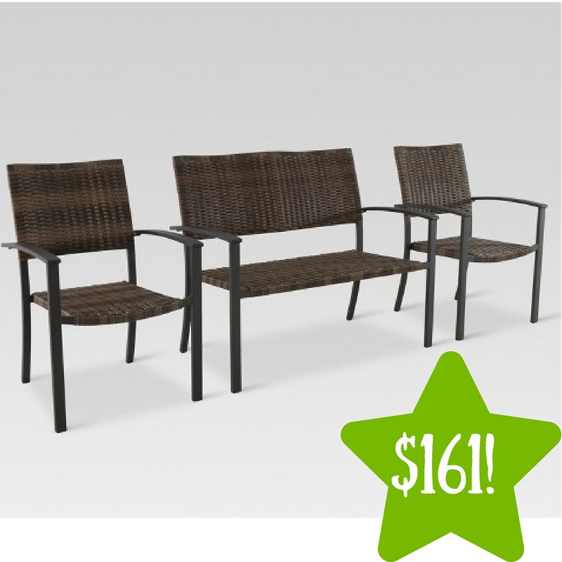 Target: 3pc All-Weather Wicker Outdoor Patio Chat Set Only $161 (Reg. $299)