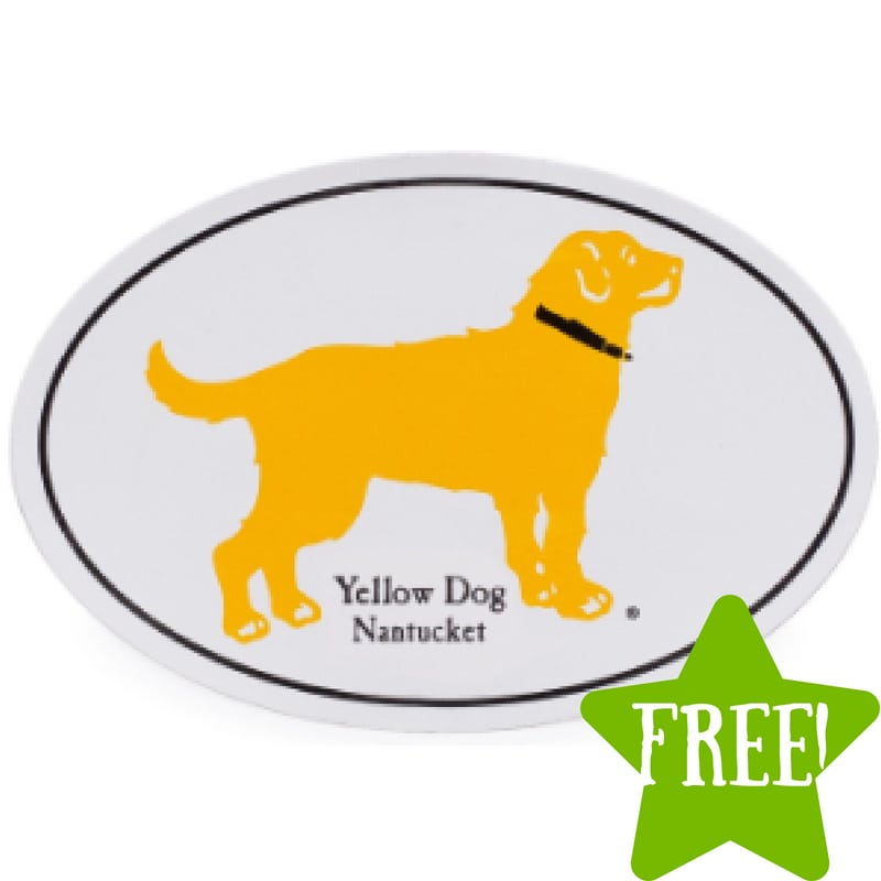 FREE Yellow Dog Nantucket Stickers